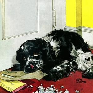 """Butch Chews the Mail,"" March 13, 1948 by Albert Staehle"