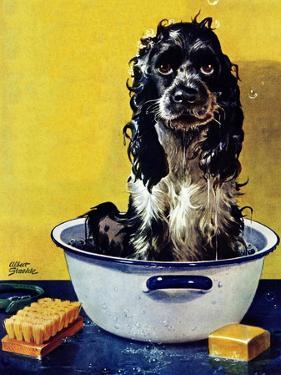 """""""Butch Gets a Bath,"""" May 11, 1946 by Albert Staehle"""