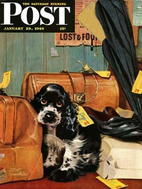 """Butch in Lost & Found,"" Saturday Evening Post Cover, January 29, 1949 by Albert Staehle"