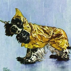 """Butch in Raingear,"" April 2, 1949 by Albert Staehle"
