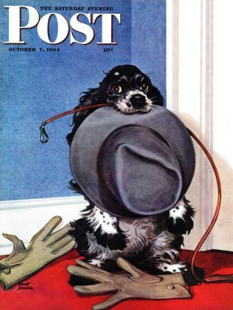 """""""Go for A Walk?,"""" Saturday Evening Post Cover, October 7, 1944"""