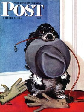 """Go for A Walk?,"" Saturday Evening Post Cover, October 7, 1944 by Albert Staehle"