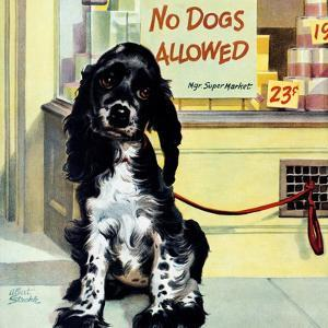 """""""No Dogs Allowed,"""" August 24, 1946 by Albert Staehle"""
