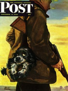 """Pocket Pal,"" Saturday Evening Post Cover, November 17, 1945 by Albert Staehle"