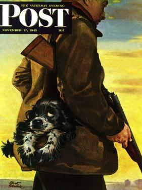 """""""Pocket Pal,"""" Saturday Evening Post Cover, November 17, 1945 by Albert Staehle"""