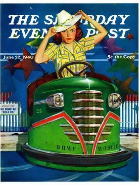 """Bumper Cars,"" Saturday Evening Post Cover, June 22, 1940 by Albert W. Hampson"