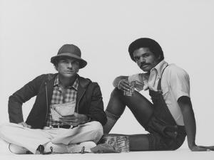Two Male Models Sitting by Albert Watson
