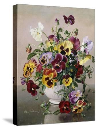 A Still Life with Pansies by Albert Williams