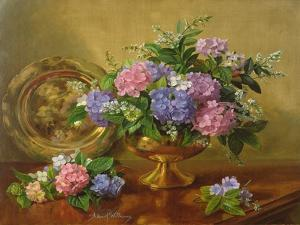 AB2112 Hydrangeas and Lilacs by Albert Williams