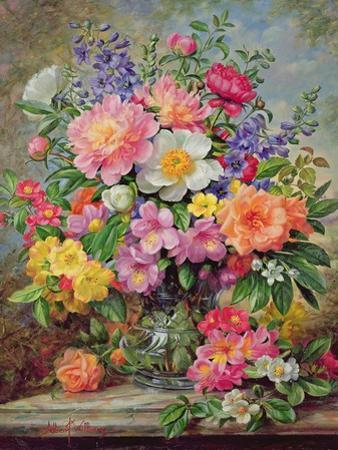June Flowers in Radiance by Albert Williams