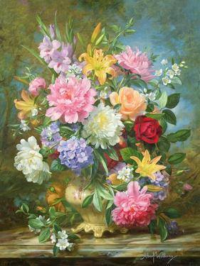 Peonies and Mixed Flowers by Albert Williams