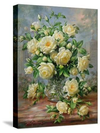 Princess Diana Roses in a Cut Glass Vase by Albert Williams