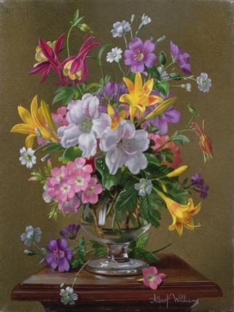 Summer Arrangement in a Glass Vase by Albert Williams