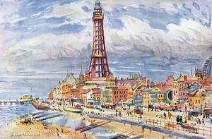 Blackpool, Tower, Beach by Albert Woods
