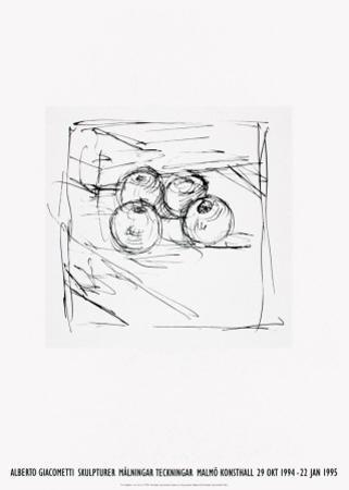 Four Framed Apples by Alberto Giacometti