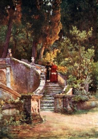 A Cardinal in Villa d'Este