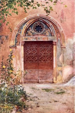 Doorway of the Monastery of S Benedict (Sagro Speco) at Subiaco