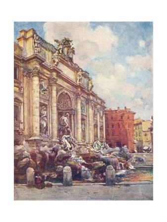 Fountain of Trevi, c1905