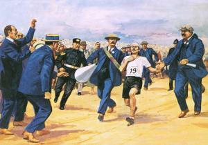Dorando Pietri, a Gallant Marathon Runner from the 1908 London Olympics by Alberto Salinas