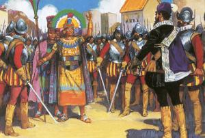 Pizarro Spurned the Friendship of the King of the Incas by Alberto Salinas