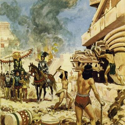 To Protect Themselves from the Defenders, the Spaniards Destroyed the Buildings as They Took Them