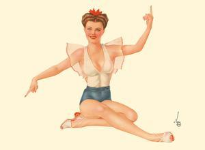 Miss May - 1944 Esquire Magazine by Alberto Vargas