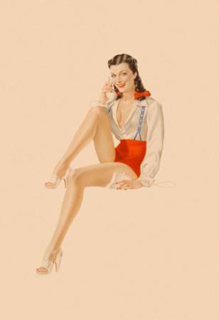 Varga Girl, July 1941 by Alberto Vargas