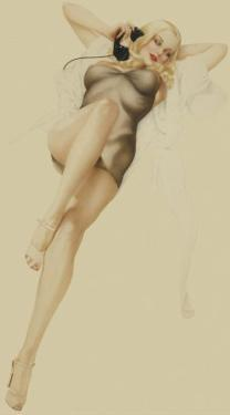Varga Girl, October 1940 by Alberto Vargas
