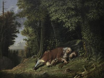 Rip Van Winkle Asleep, 1879-80 by Albertus D.O Browere