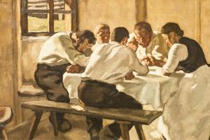 Lunch, C.1910 by Albin Egger-lienz