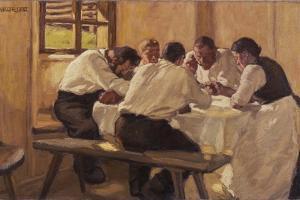 Lunch (The Soup, Version I), 1910 by Albin Egger-lienz