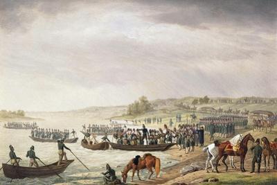 Italian Corps of Eugene De Beauharnais Crossing the Niemen on June 1812