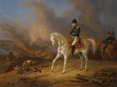 Napoleon Bonaparte before the Burning City of Smolensk