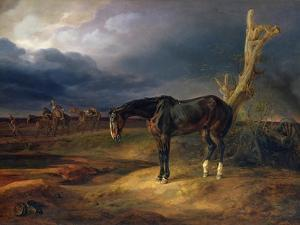 Ownerless Horse on the Battlefield at Moshaisk in 1812, 1834 by Albrecht Adam