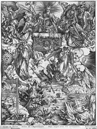 Apocalypse, the Opening of the Seventh Seal, the Seven Angels, Latin Edition, 1511 by Albrecht Dürer