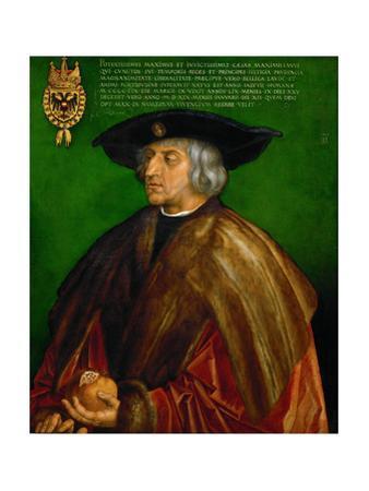 Emperor Maximilian I (1466-1536). Oil on limewood (1519) 74 x 61.5 cm Inv. 825. by Albrecht Dürer