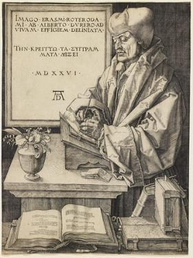 Erasmus of Rotterdam, 1526 by Albrecht Dürer