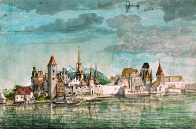 Innsbruck Seen Across the River Inn, 1495 by Albrecht Dürer