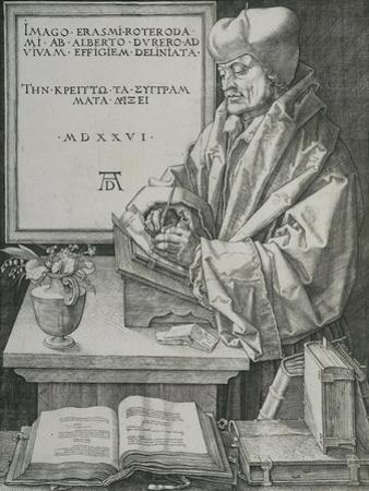 Portrait of Erasmus, 1526 by Albrecht Dürer or Duerer