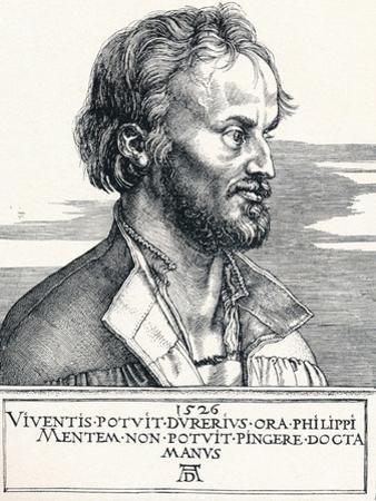 Philipp Melanchthon, 1526 by Albrecht Dürer
