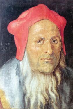 Portrait of a Bearded Man with Red Cap by Albrecht Dürer