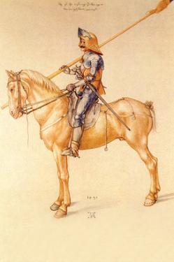 Rider in the Armor by Albrecht Dürer