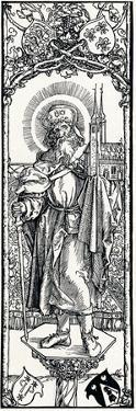 St Sebaldus on a Capital, by Albrecht Dürer
