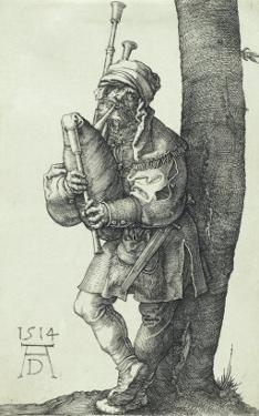 The Bagpiper, 1514 by Albrecht Dürer