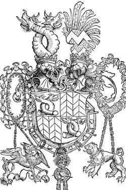 The Coat of Arms of Florian Waldauf, 1500 by Albrecht Dürer