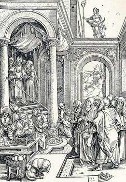 The Presentation of the Virgin in the Temple, 1506 by Albrecht Dürer
