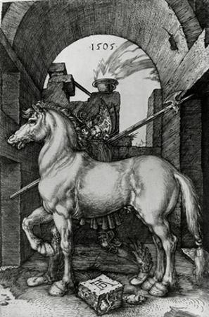 The Small Horse, 1505 (Engraving) by Albrecht Dürer