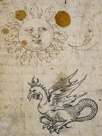 The Sun, The Moon and a Basilisk, Around 1512
