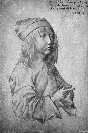 'Albrecht Durer at the age of thirteen. From a drawing by himself', 1484, (1906) by Albrecht Durer