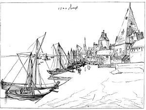 Port of Antwerp in 1520 by Albrecht Durer